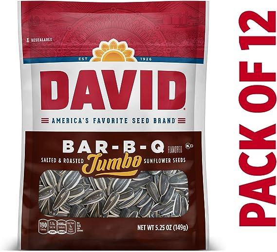 DAVID Roasted and Salted Bar-B-Q Jumbo Sunflower Seeds