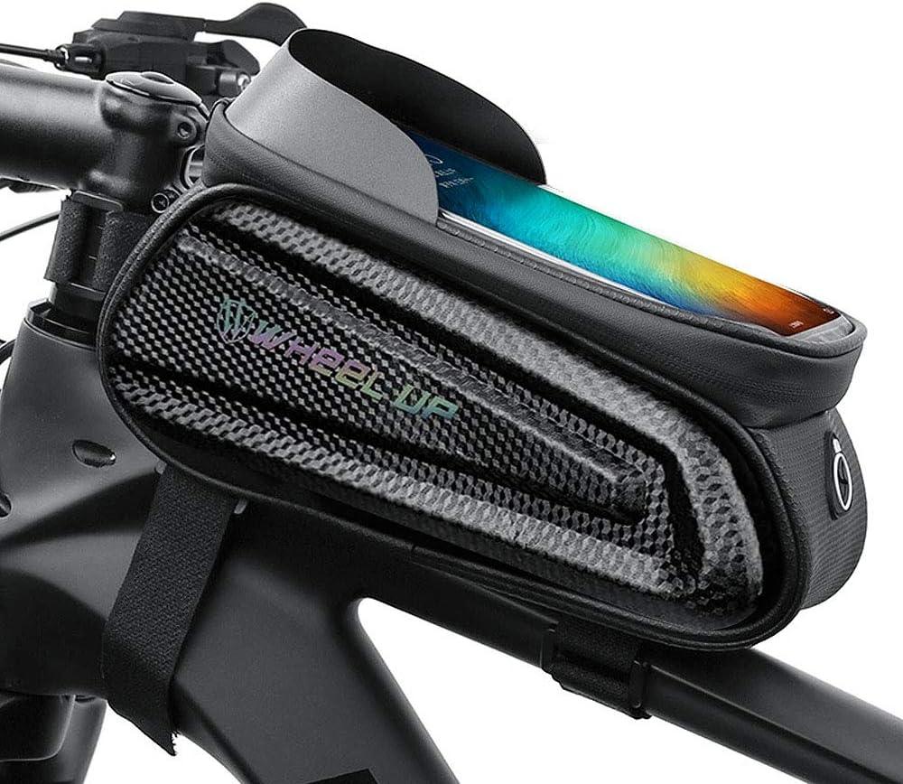 trou pour /écouteurs et /écran tactile 6,5 HQCM Sacoche de cadre de v/élo /étanche avec pare-soleil