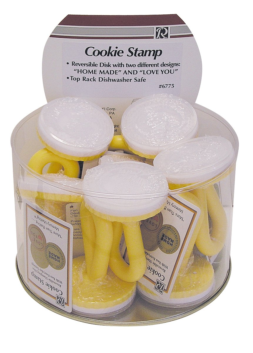 CybrTrayd R&M Cookie Stamp Set with Messages (Bucket of 12), Multicolor