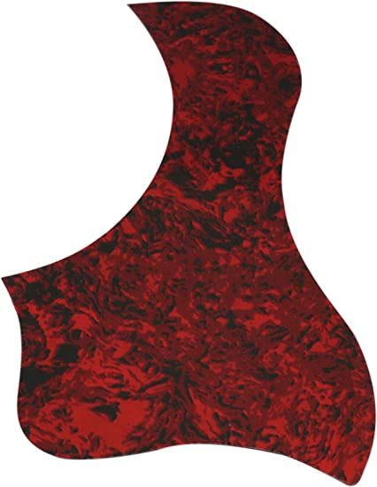 Acoustic guitar pick guard  red brown shell pattern pickguard scratch plate