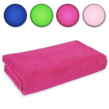 Belmalia microfibra toalla XXL, muy absorbente, 180 x 75 cm, toalla de playa toalla Sauna paño de microfibra rosa: Amazon.es: Electrónica