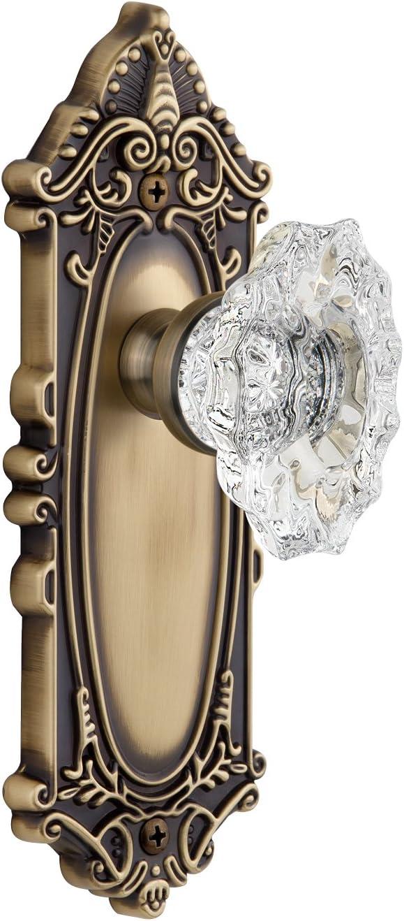Single Dummy Grandeur Grande Victorian Plate with Biarritz Knob Vintage Brass