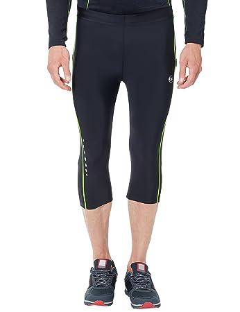 Ultrasport Herren Laufhose, 3/4 lange Fitnesshose für Männer, mit Kompressionswirkung und Quick-Dry, für alle Sportarten geei