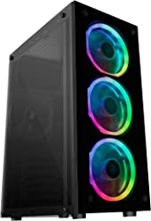 Mars Gaming MCG RGB - Caja PC, Cristal Templado, 3 Ventiladores LED RGB,