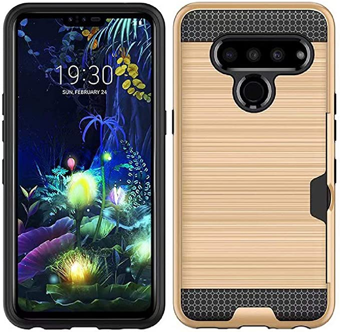 LG G8 ThinQ Case, Wiredrawing Design Combined Armor Slim Funda ...