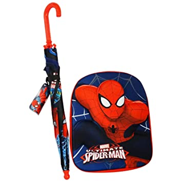 Dc Comics Ultimate Spiderman Set Paragua y Mochila Escolar ...