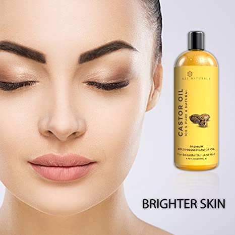 Rey Naturals - Aceite de ricino 100% puro prensado en frío, hidratante y curativo, para piel seca, crecimiento del cabello, para piel, cuidado del cabello, ...