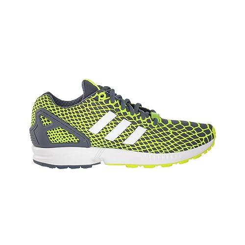 4ac979324 adidas ZX Flux Techfit Mens Running Shoes Yellow White Onix b24934 (10 D