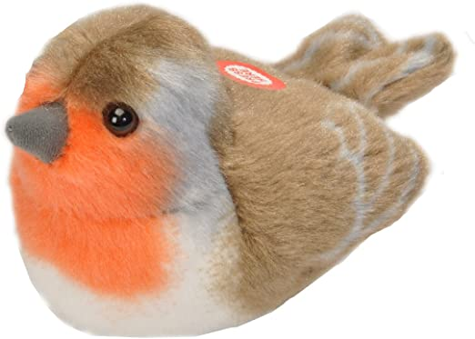 Robin soft toy which makes sound when pressed.