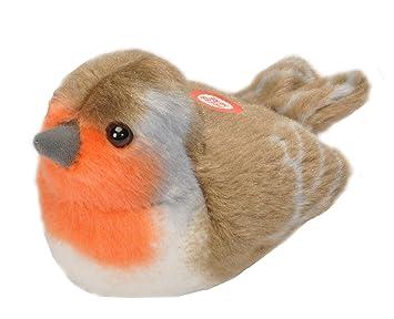 Wild Republic - Aves, Robin con Sonidos Reales Peluche, 13 - 16 cm (