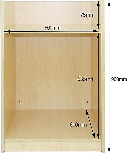 MonsterShop - Mostrador TB60 para Caja Registradora con Acabado en Arce Laminado para Tienda y Recepción 60cm x 90cm x 60cm: Amazon.es: Oficina y papelería