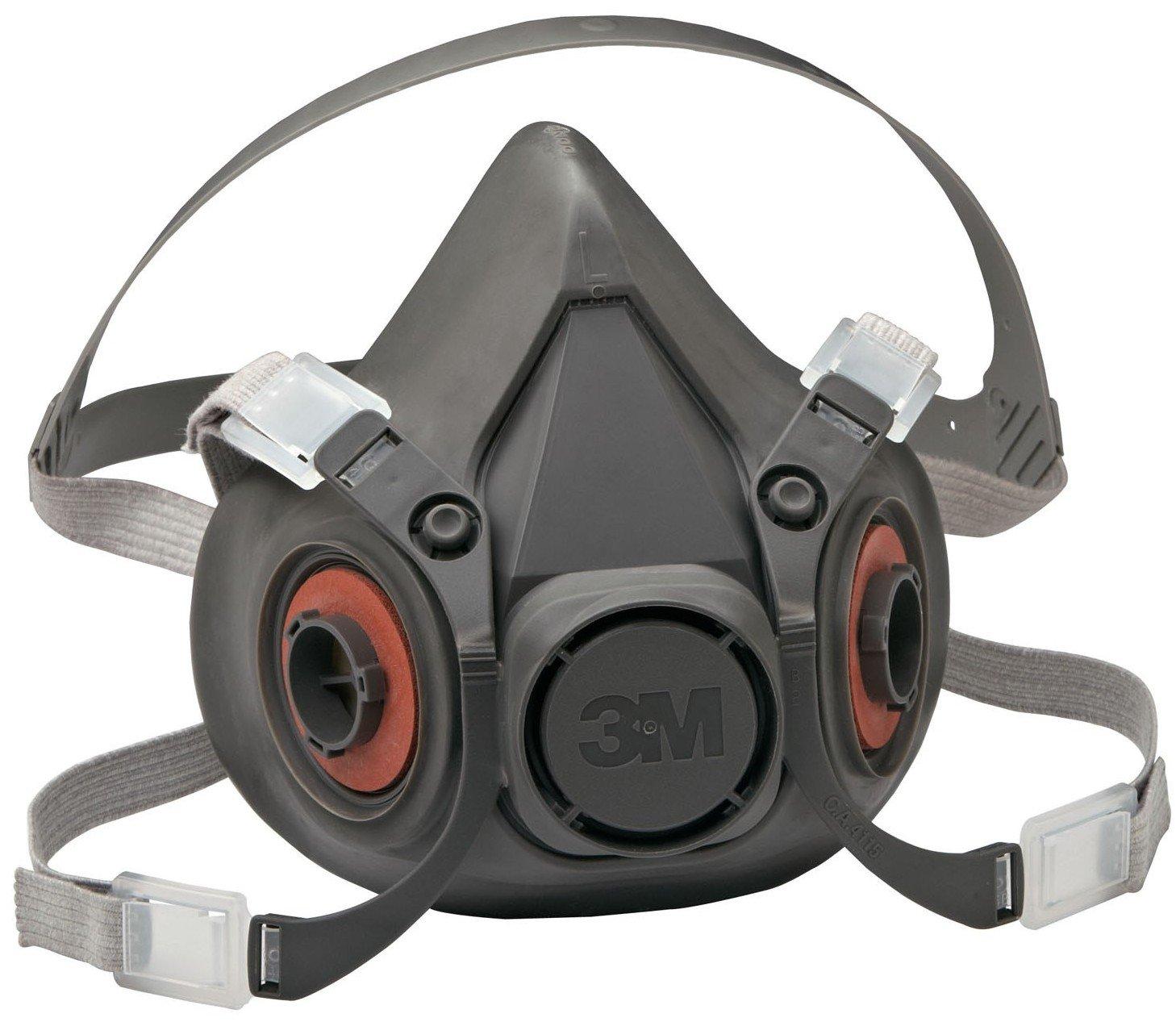 3M 6000 Series Half Facepiece Low-Maintenance Respirators - Large Size