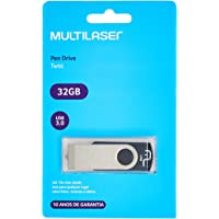 Pendrive Multilaser Usb 3.0 Twist Preto 32Gb - PD989