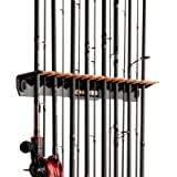KastKing Patented V15 Vertical Fishing Rod Holder – Wall Mounted Fishing Rod Rack, Store 15 Rods or Fishing Rod Combos in 18