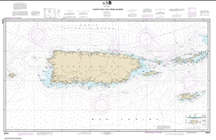 Amazon.com : NOAA Chart 25640-Puerto Rico and Virgin Islands-PAPER ...