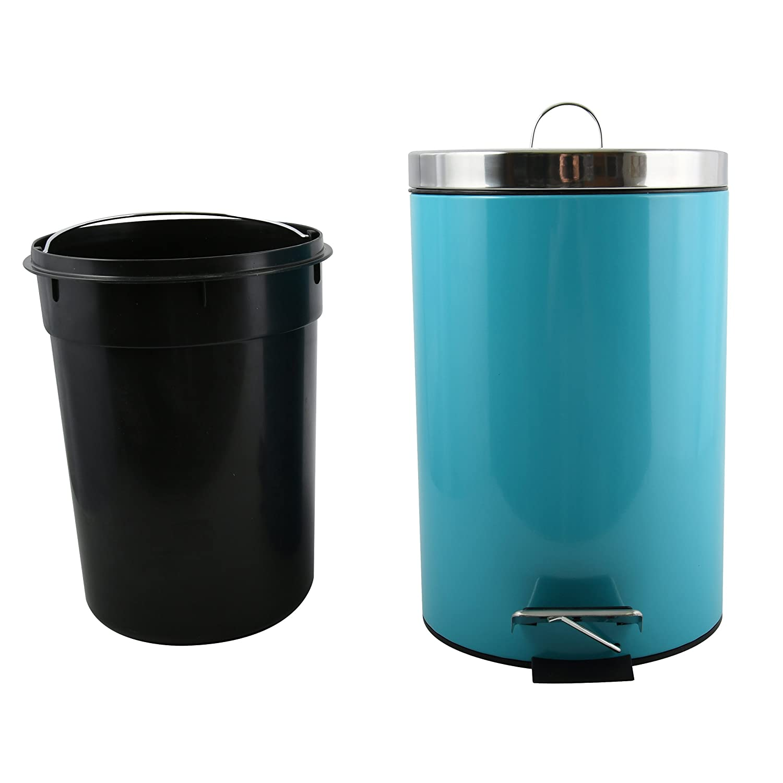 Grau mit Herausnehmbaren Inneneimer MSV Kosmetikeimer Unna M/ülleimer Treteimer Abfalleimer 5 Liter