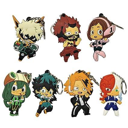 Havenport Boku No Hero Academia Keychain My Hero Academy Anime Manga Izuku Midoriya Deku Key Ring Group 3