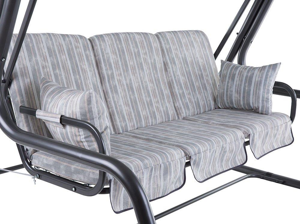 Dajar 466494 Auflagenset für 4-Sitzer Hollywoodschaukel Rimini C051-06LB Patio, Grau, 115 x 60 x 9 cm