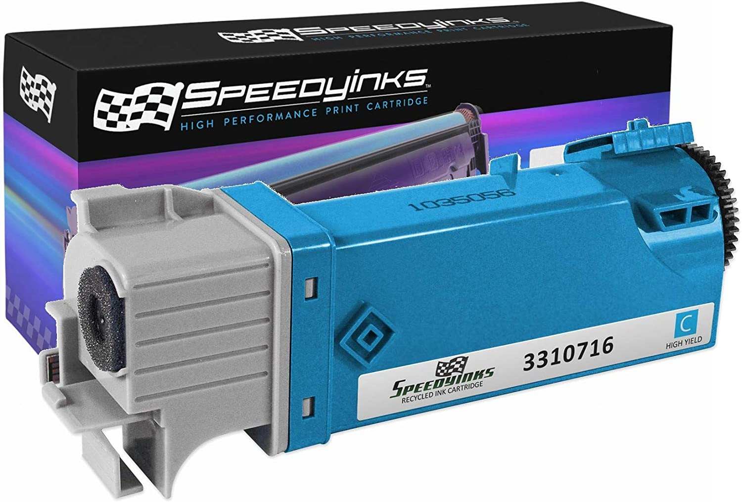 Speedy Inks Compatible Toner Cartridge Replacement for Dell 2150  THKJ8 (331-0716) High-Yield (Cyan)