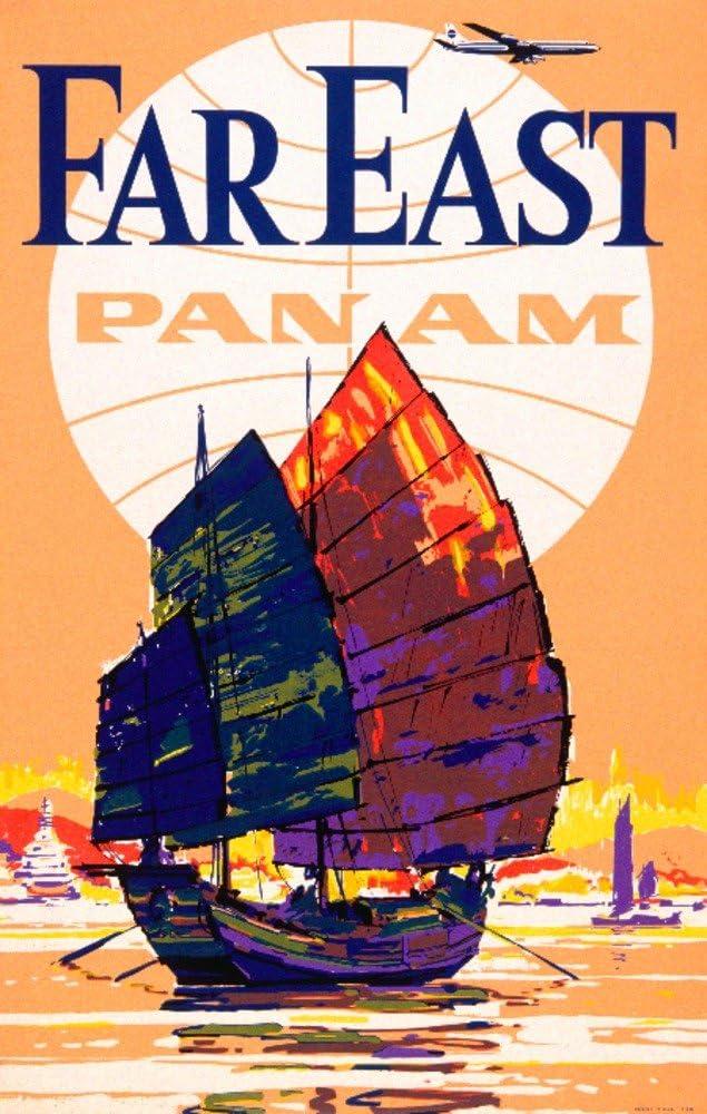 Pan Am – Far Eastビンテージポスターアメリカ 24 x 36 Giclee Print LANT-59887-24x36