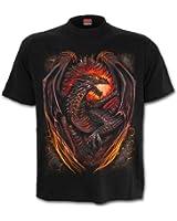 Spiral Mens - Dragon Furnace - T-Shirt Black Plus Size
