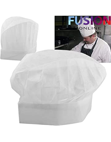20 x Cappelli di carta usa e getta da cuoco d6e39b0a73f2