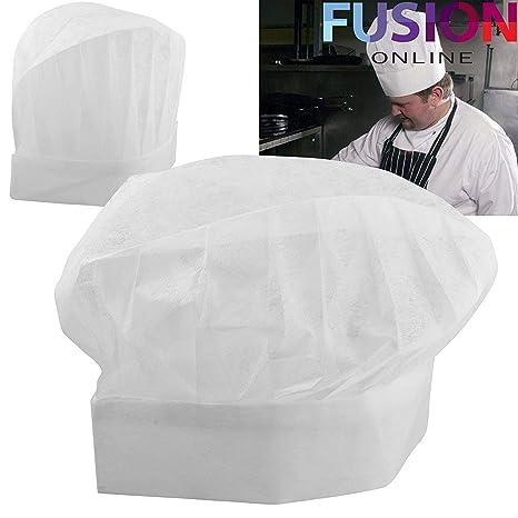20 x Cappelli di carta usa e getta da cuoco 5afdf7e53b89