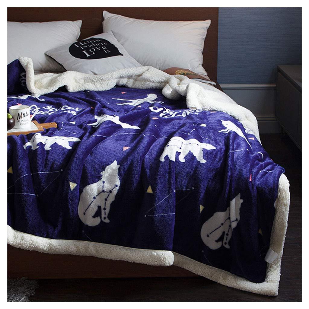 毛布のフランネル柔らかなふわふわの居心地の良い紫色の動物パターンの昼寝ソファベッド毛布を投げる (サイズ さいず : 200*230センチメートル) B07H9YS6CR  200*230センチメートル