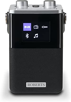 Roberts BlutuneT2 Portable DAB Radio with Two Alarms, Bluetooth Connectivity and Smartphone Charging - Black