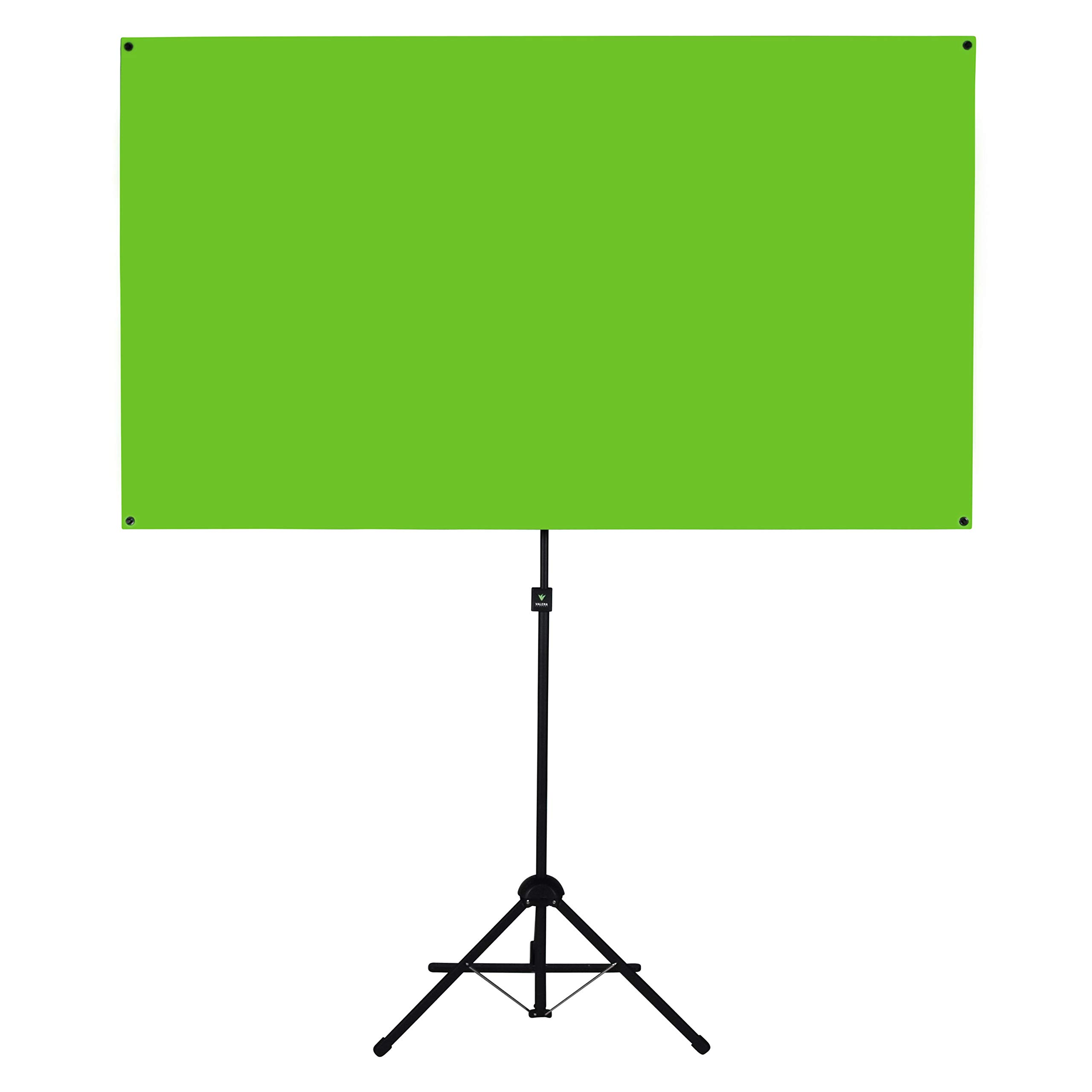 Valera Explorer 70 Inch Portable Green Screen for Streaming and Videos - Mounts on Tripod and Wall | Only 8 lbs | 2 min Setup | 16:9 Format | ChromaBoost Fabric with High Vibrancy for Low Lighting