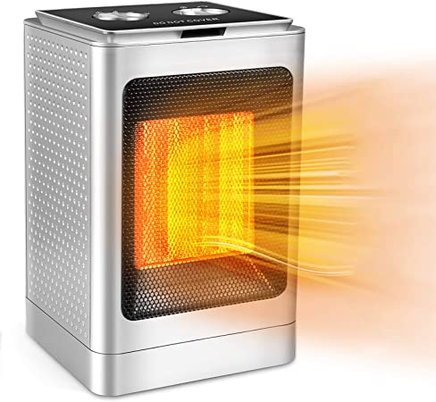 Portable Ceramic Space Heater 750W 1500W Elec