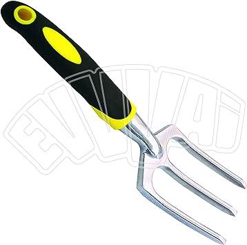 Horca de cultivo, 28 cm, herramienta para huerto, jardín, macetas, flores, jardinería: Amazon.es: Bricolaje y herramientas
