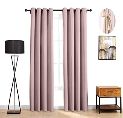 Blackout Curtains Essential Darkening Thermal Insulated Curtains And Drapes Solid Grommets Window Blinds And Shades Window Treatments For Bedroom