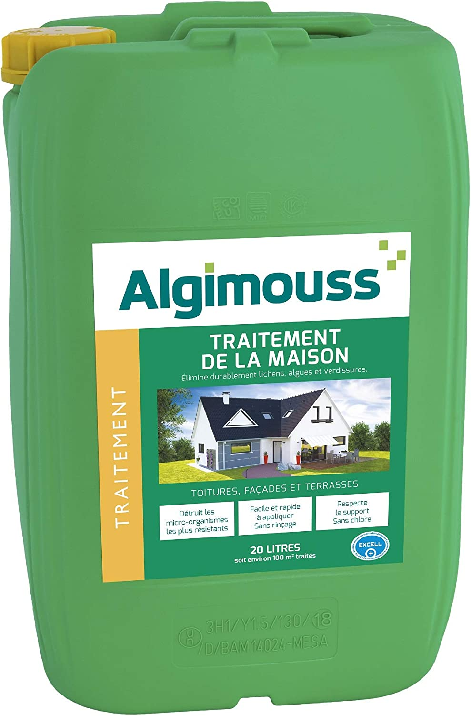 ALGIMOUSS 1105 Traitement DE LA Maison 5L TOITURES FACADES TERRASSES