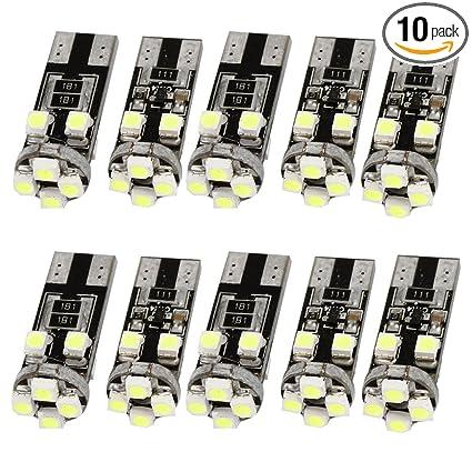 10tlg/Set T10 SMD3528 LED Auto Lampe Weiß Autolampe KFZ Glühbirne  Beleuchtung
