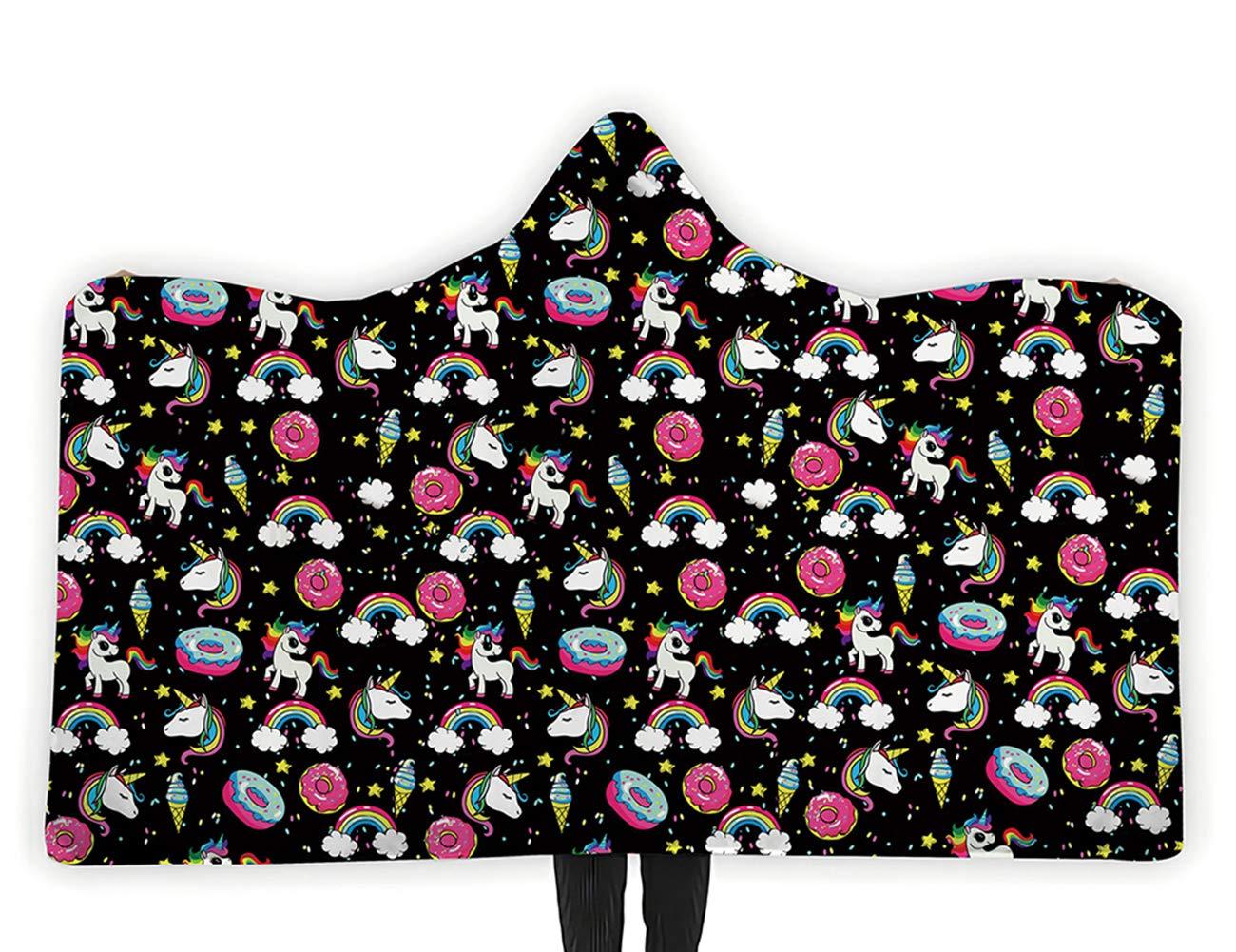 Unicorn Graphic Blanket Hoodie