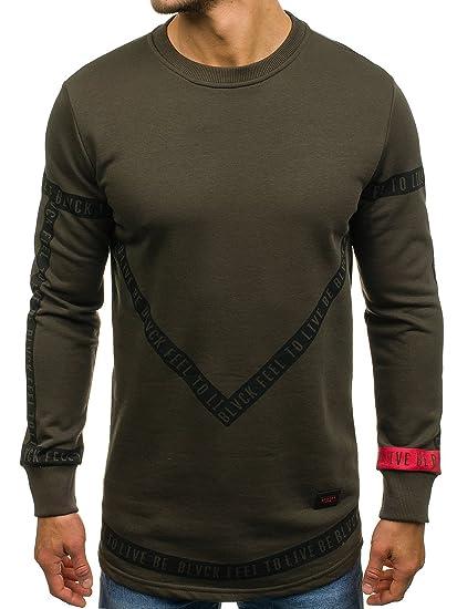 Sweatshirt Rundhals Pullover Pulli Casual Motiv Print Herren BOLF 1A1 Aufdruck