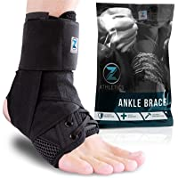 Zenith Ankle Brace, Lace Up Adjustable Support – for Running, Basketball, Injury Recovery, Sprain! Ankle Wrap for Men…