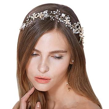 Amazon faybox bridal vintage crystal pearl hairbands wedding faybox bridal vintage crystal pearl hairbands wedding hair accessories gold tone junglespirit Image collections