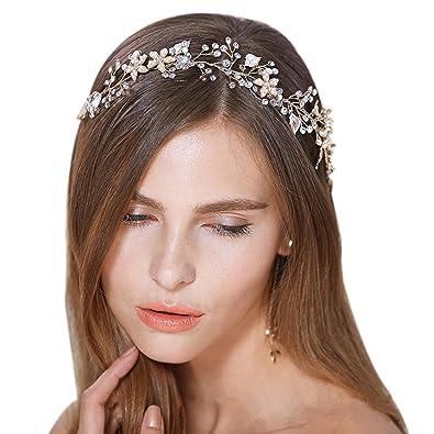 Brautschmuck haare  Brautschmuck Vintage Kristall Pearl Vine Haarbänder Hochzeit Haar ...
