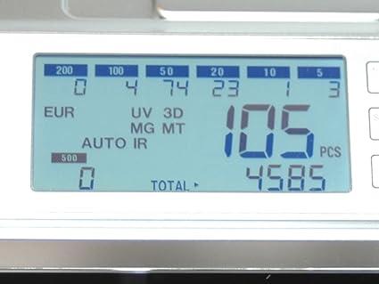 Máquina de contar dinero, contador de billetes, contador de valor, detector de billetes falsos: Amazon.es: Oficina y papelería