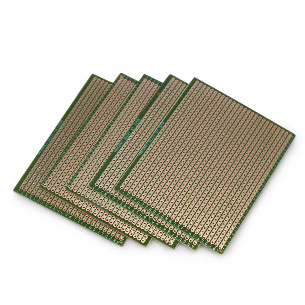 5pcs Diy Soldering Prototype Copper Pcb Printed Circuit Board 70mm X High Quality 2pcs Breadboard Panel 90mm Stripboard