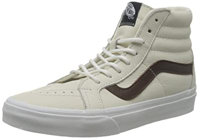 vans sk8 hi leather white
