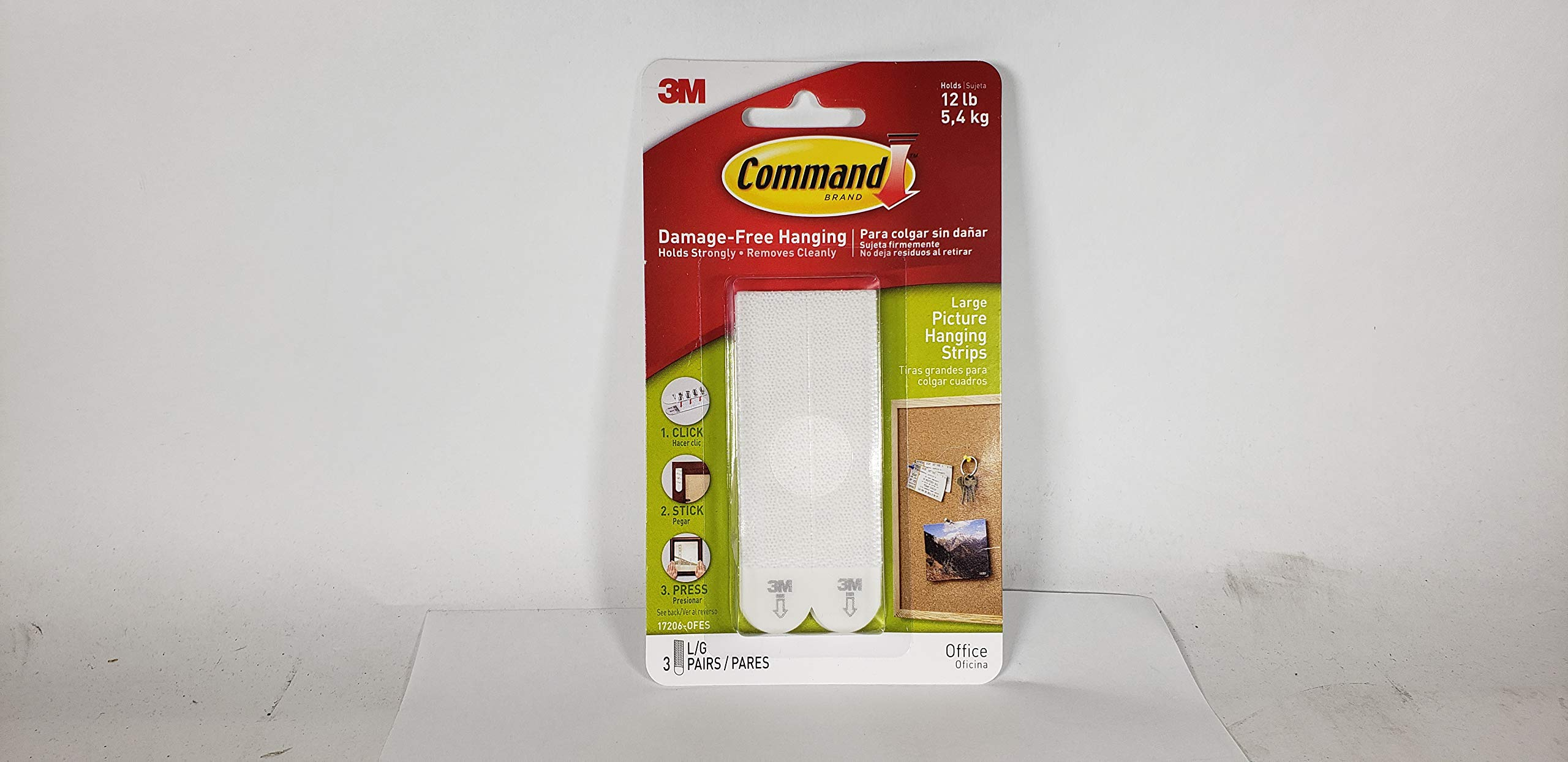 Command Picture WPQ1 & Frame Hanging Strips Value Pack P9JR8W, Large, White, 36-Pairs