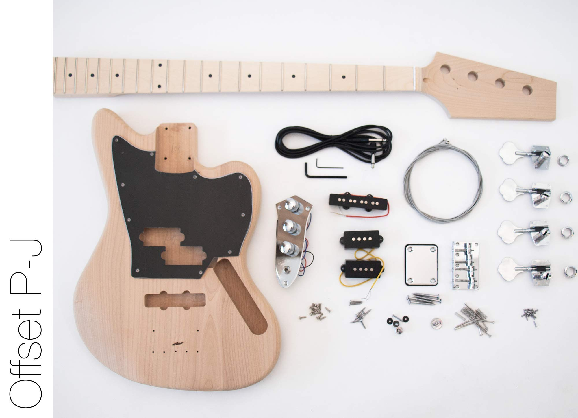 The FretWire DIY Electric Bass Guitar Kit - Offset P-J Bass Build Your Own