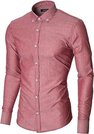 Camisa para hombre de Moderno, corte ajustado, manga larga (MOD1459LS): Amazon.es: Ropa y accesorios