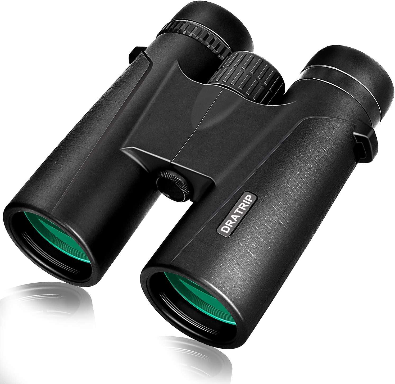 Powerful Compact Professional HD Binocular with Low Light Night Vision,Waterproof Fogproof Binoculars for Bird Watching,Travel,Hunting,Wildlife,Concert 12x42 Binoculars for Adults