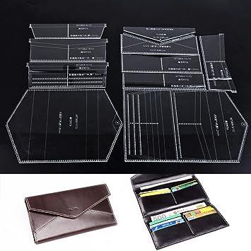 Amazon.com: WUTA Leather Checkbook Case Long Clutch Bifold Wallet ...