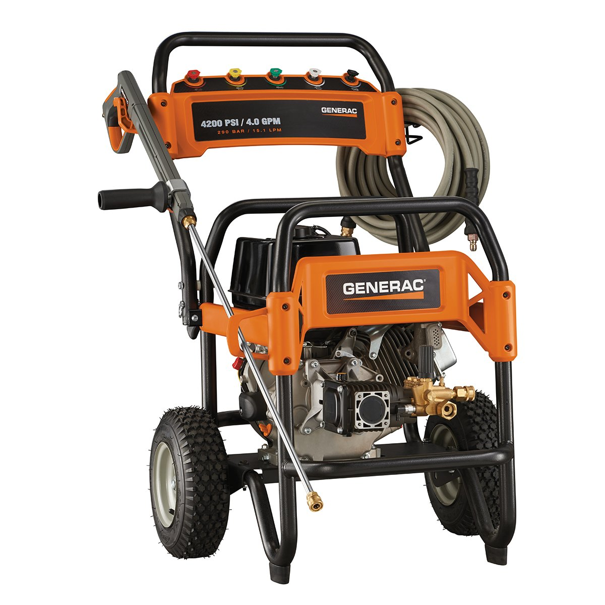 Amazon.com : Generac 6565 4, 200 PSI 4.0 GPM 420cc OHV Gas Powered  Commercial Pressure Washer : Garden & Outdoor