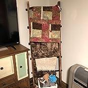 Amazon.com: MyGift - Escalera rústica urbana de madera y ...